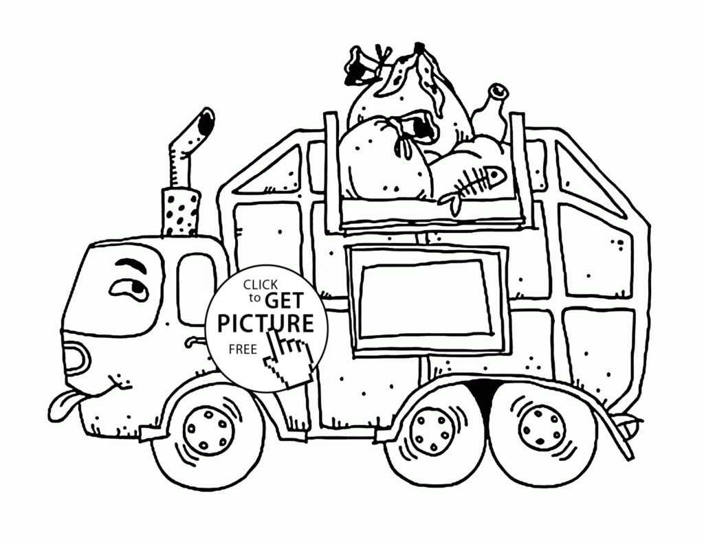 1024x792 Garbage Truck Coloring Page Get Bubbles