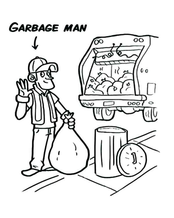 Garbage Truck Coloring Page At Getdrawings Com Free For Personal