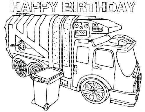 500x386 Garbage Truck Coloring Pages Garbage Truck Coloring Pages Garbage