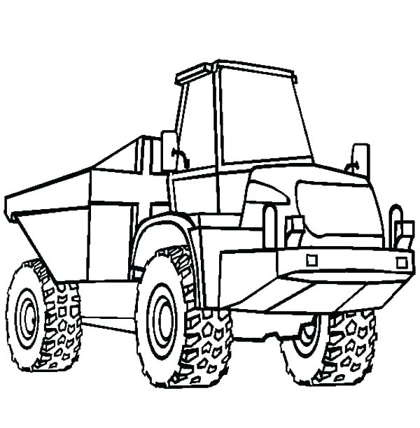 600x612 Garbage Truck Coloring Pages Online Page Dump Co