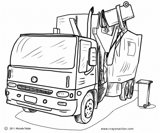 521x432 Garbage Truck Printable Coloring Pages