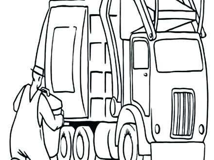 440x330 Peterbilt Coloring Pages Dump Truck Coloring Page Epic Garbage