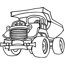230x230 Top Free Printable Dump Truck Coloring Pages Online