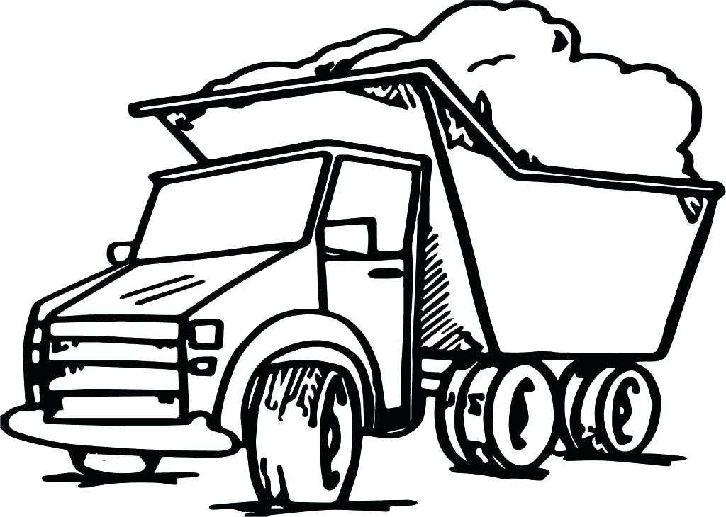 1024x730 Dump Truck Coloring Page Professional