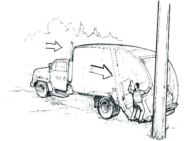 600x457 Garbage Truck Coloring Page