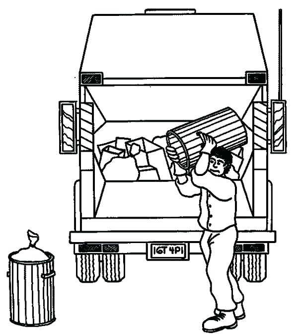 600x676 Dump Truck Coloring Page Garbage Truck Coloring Page Garbage Truck