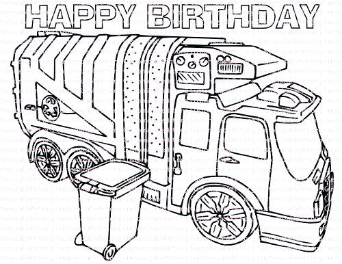 500x386 Free Printable Dump Truck Coloring Pages Garbage For Kids Best