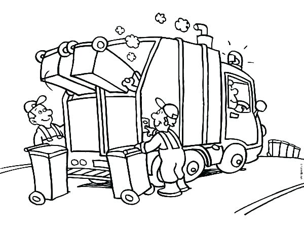 600x450 Free Truck Coloring Pages Garbage Truck Coloring Pages Printable