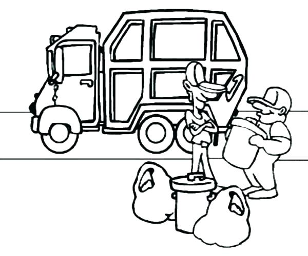 600x500 Garbage Truck Coloring Pages Garbage Truck Pictures For Kids Free