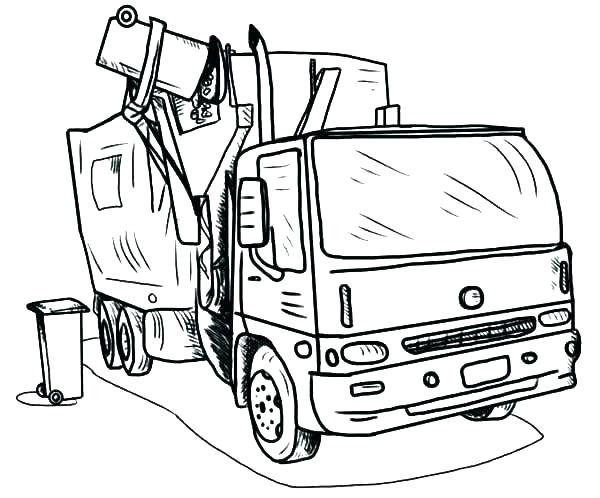 600x498 Garbage Truck Printable Coloring Pages Coloring Page Truck Garbage