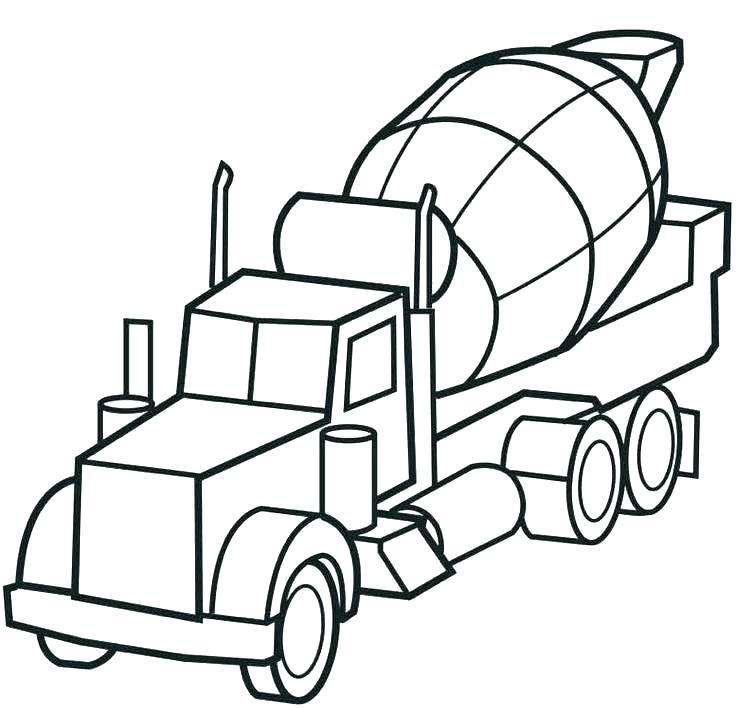 736x709 Coloring Pages Fire Trucks Preschool Garbage Truck Coloring Page