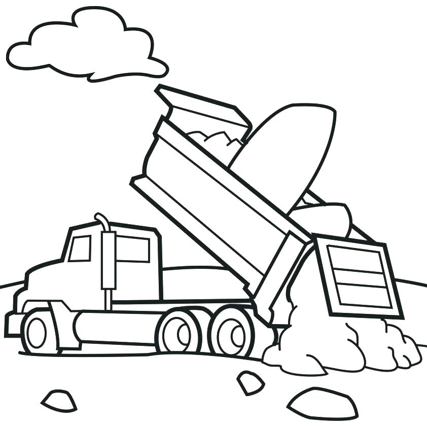 842x842 Printable Truck Coloring Pages Garbage Truck Coloring Pages