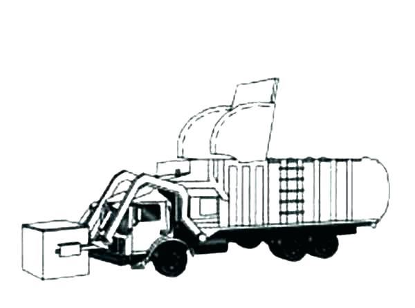 600x445 Trash Truck Coloring Pages Garbage Truck Printable Coloring Pages