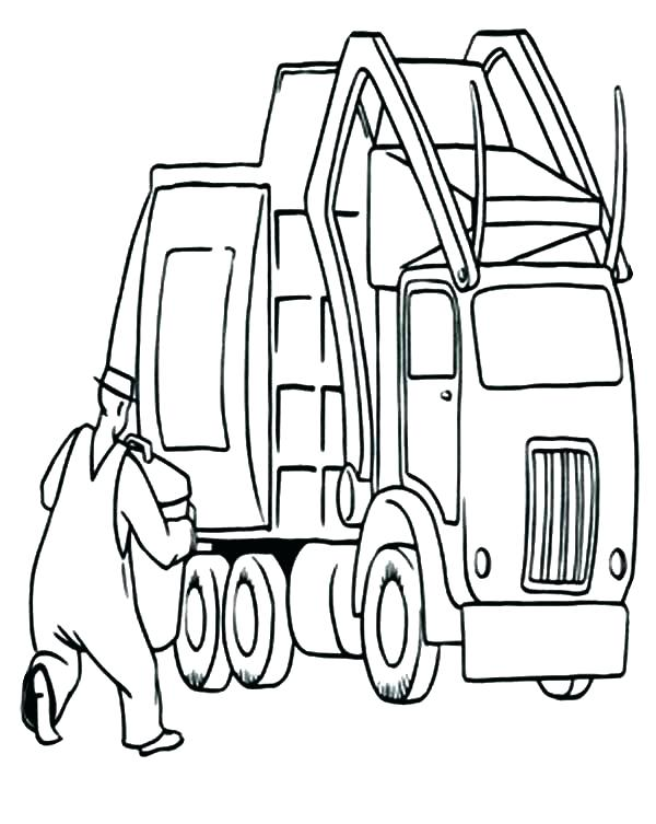 600x753 Trash Truck Coloring Pages Trash Pack Truck Coloring Pages Garbage