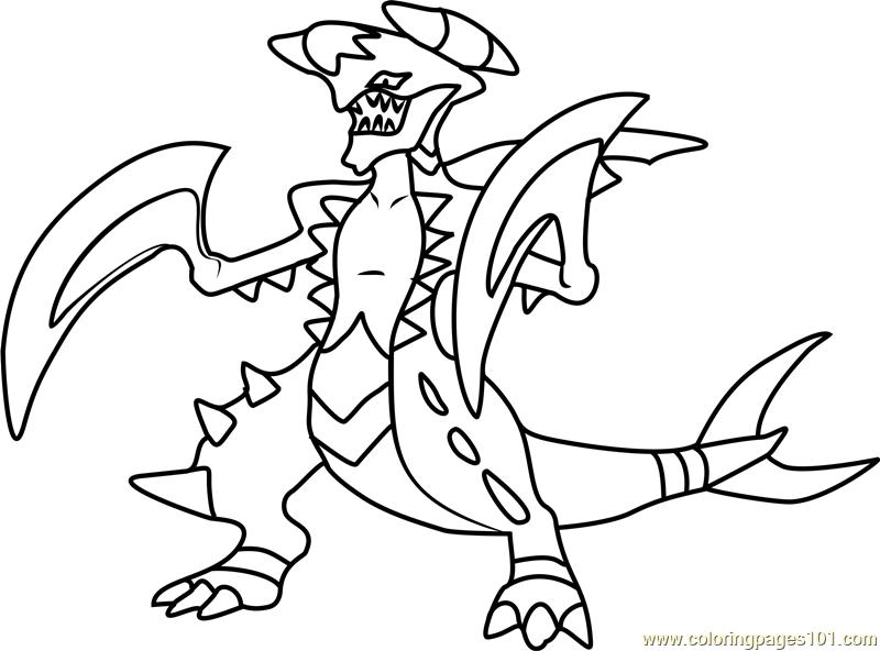 800x592 Garchomp Pokemon Coloring Page