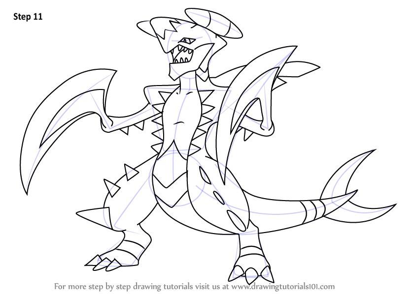 844x598 Mega Garchomp Coloring Page