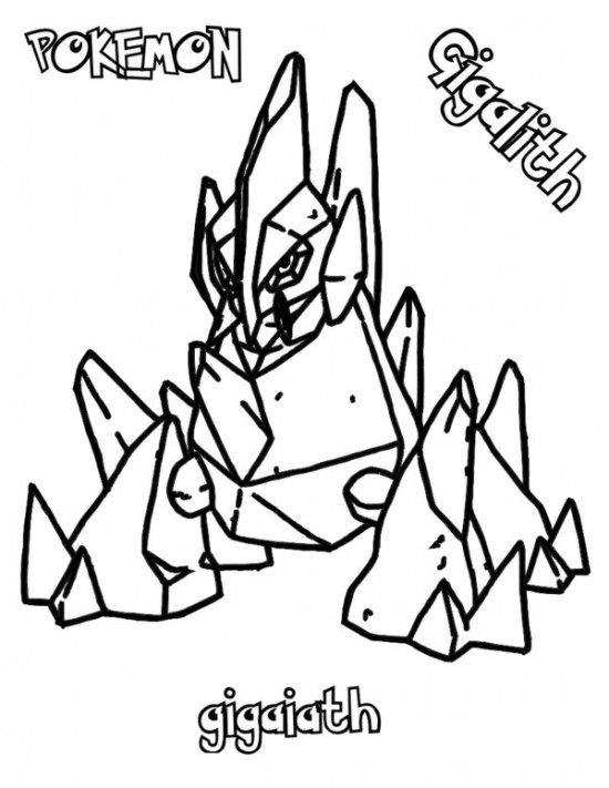 550x711 Pokemon Gigalith Coloring Pages Pokemon Coloring Pages