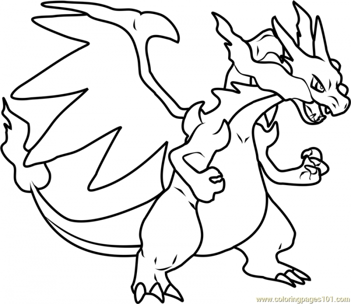 700x606 Pokemon Mega Charizard X Coloring Pages Free Free Coloring Sheets
