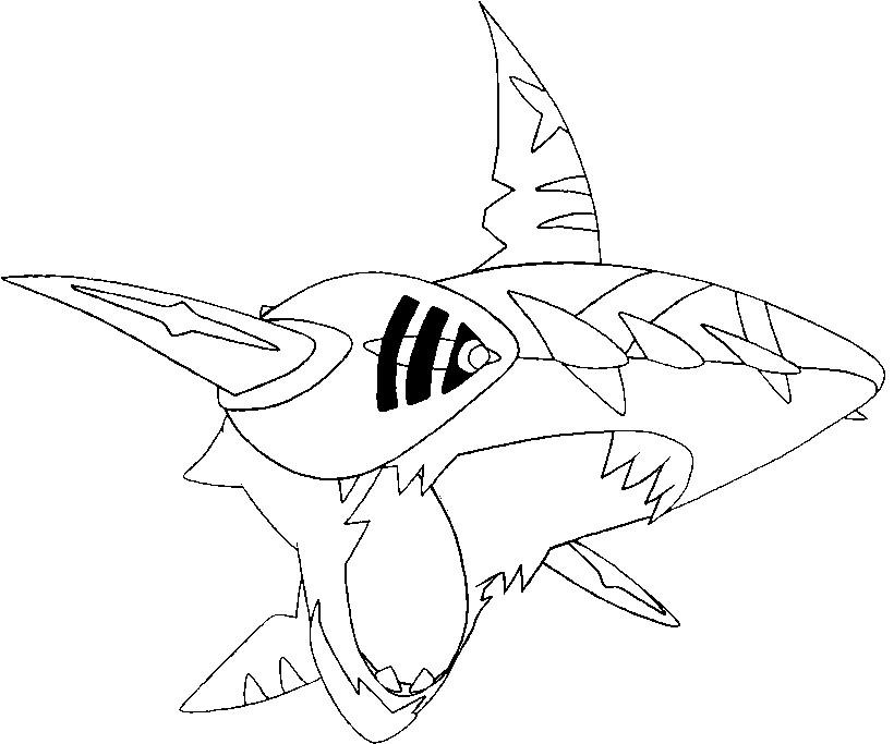 820x683 Coloring Page Mega Evolved Pokemon Mega Sharpedo