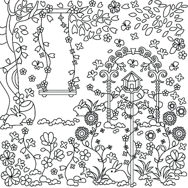 736x736 Garden Coloring Page Garden Coloring Page For Adults Printable