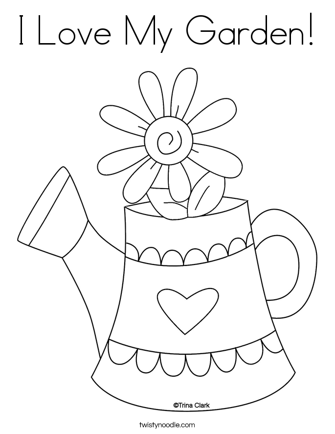 685x886 I Love My Garden Coloring Page