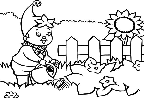 600x425 Noddy Waters The Garden Coloring Pages Color Luna