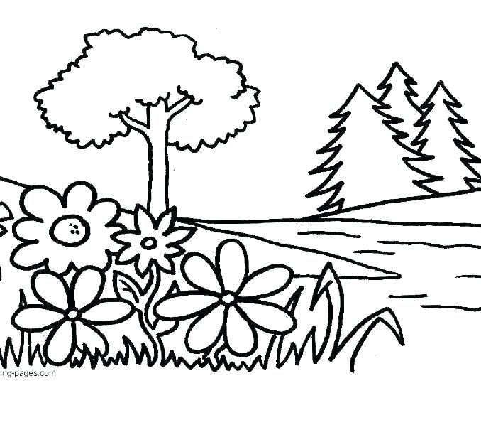 678x598 Flower Garden Coloring Page Collage Garden Coloring Page Beautiful