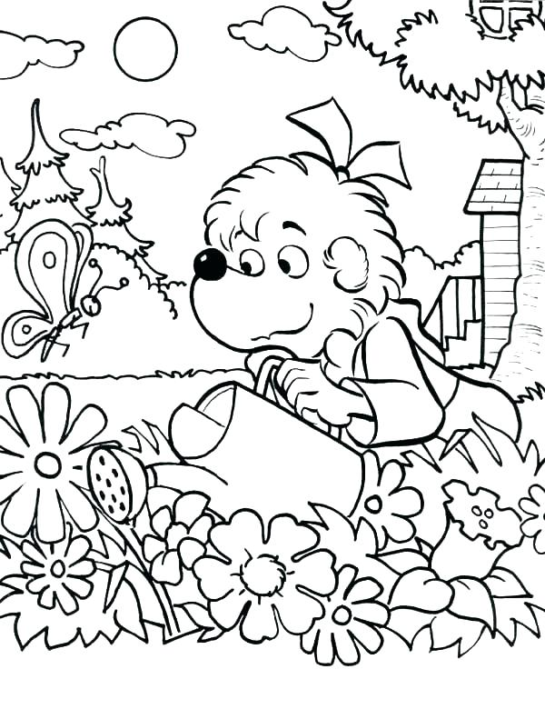Garden Coloring Pages at GetDrawings.com   Free for personal use ...