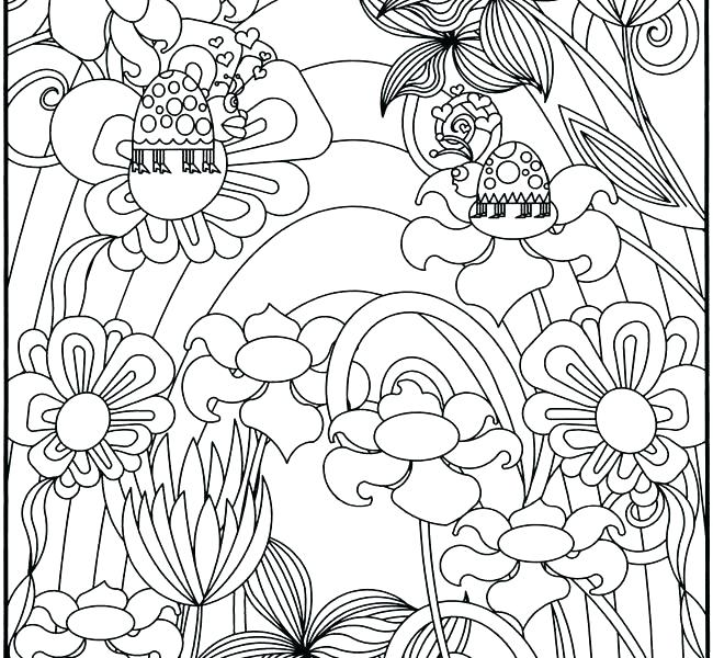 650x600 Flower Garden Coloring Page Garden Coloring Page Flower Garden
