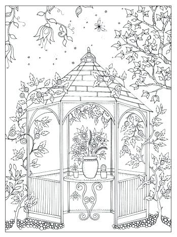 349x469 Garden Coloring Page Garden Coloring Pages For Adults Secret