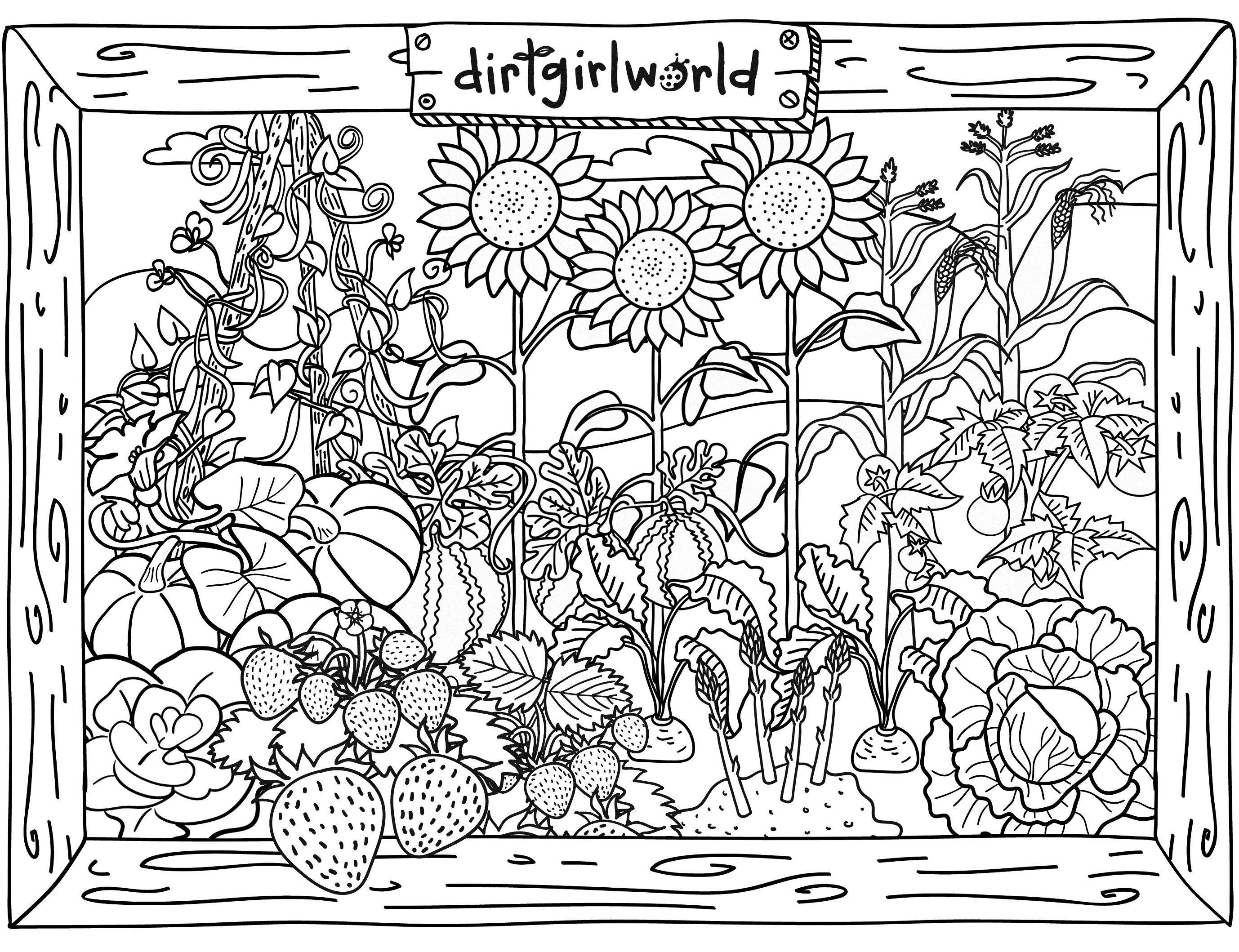 2756x2118 Special Garden Coloring Pages To Print Vegetable Printable Secret