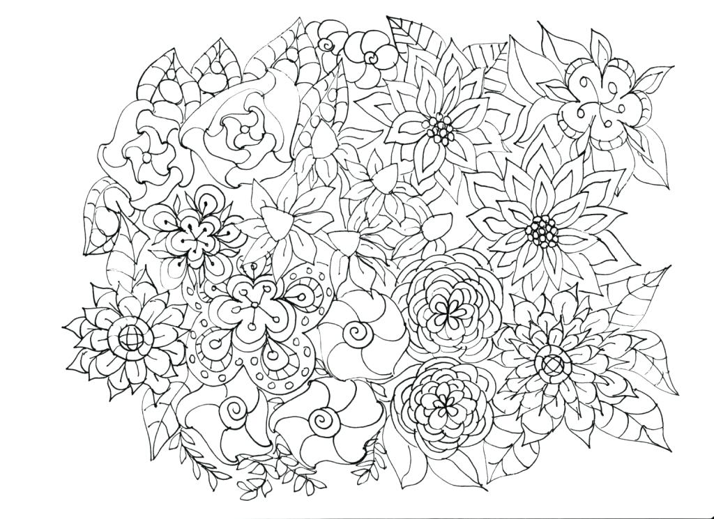 1024x745 Coloring Page Flowers Surprising Flower Garden Coloring Pages Free