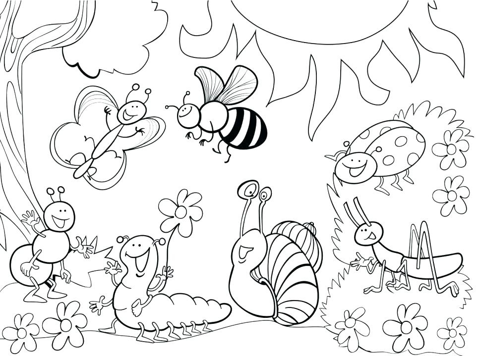 970x719 Garden Coloring Pages For Kids Printable Printables And Menu