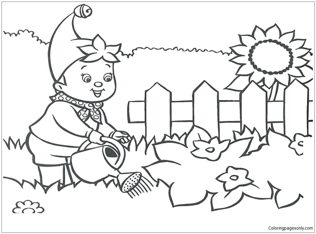 1013x752 Printable Secret Garden Coloring Pages Kids Coloring Boy Watering