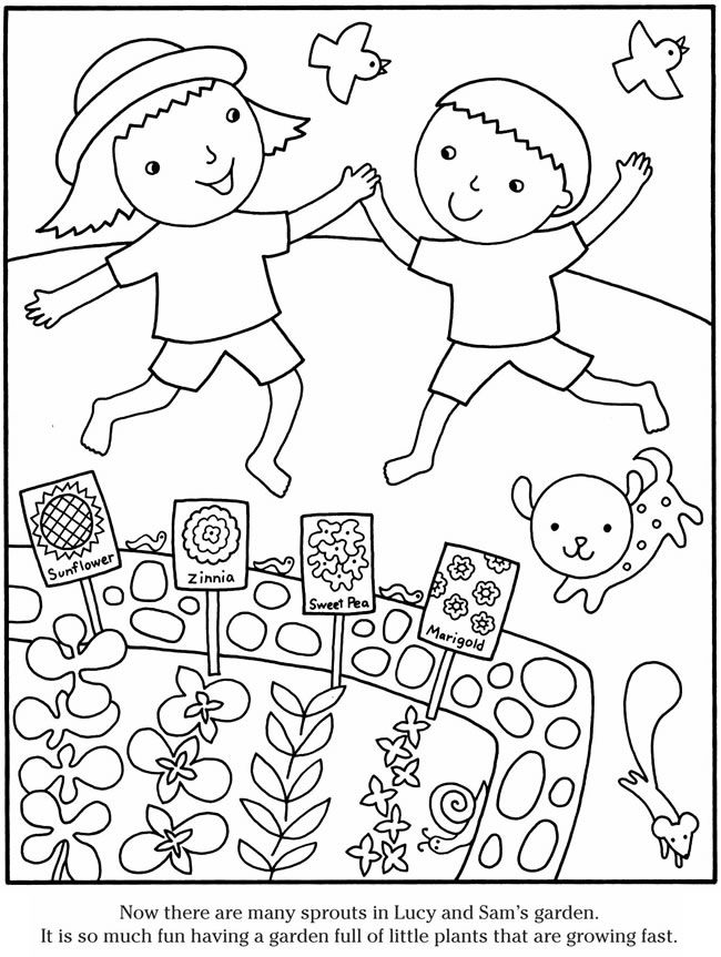 650x863 Simple Garden Coloring Pages