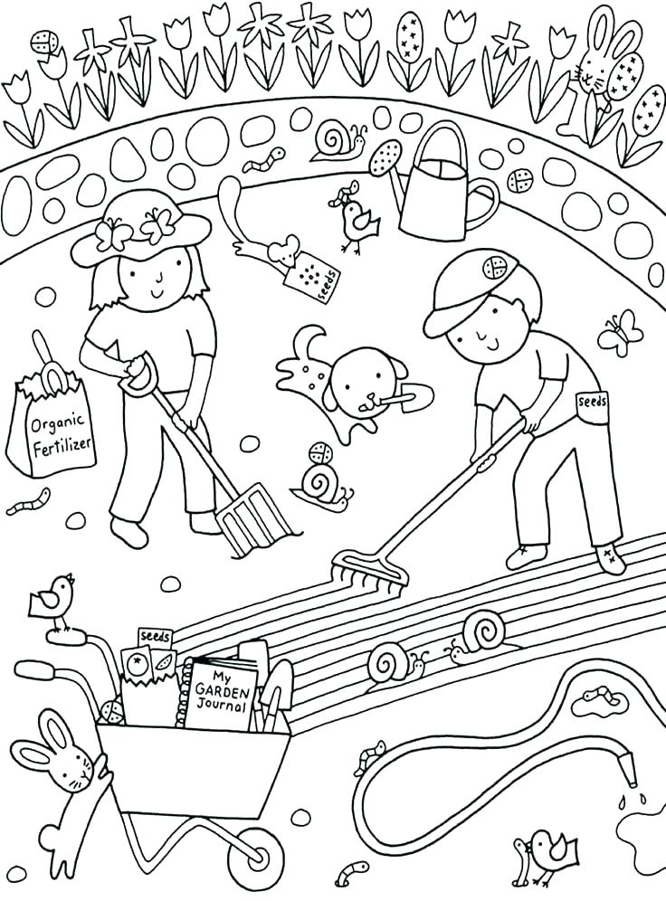 736x996 Vegetable Garden Coloring Pages Vegetable Garden Coloring Pages
