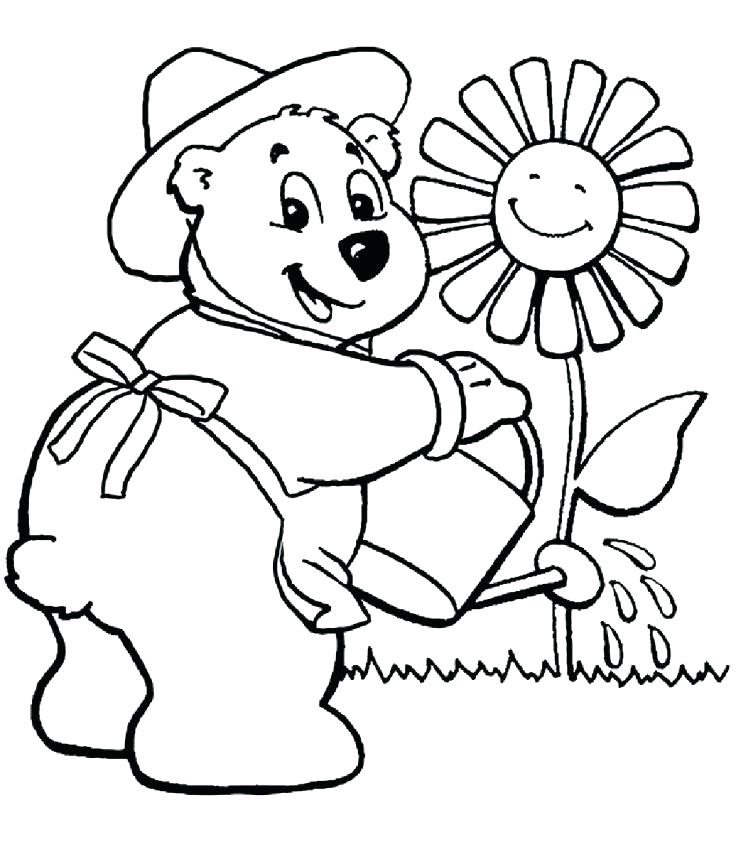 736x847 Gardening Coloring Pages