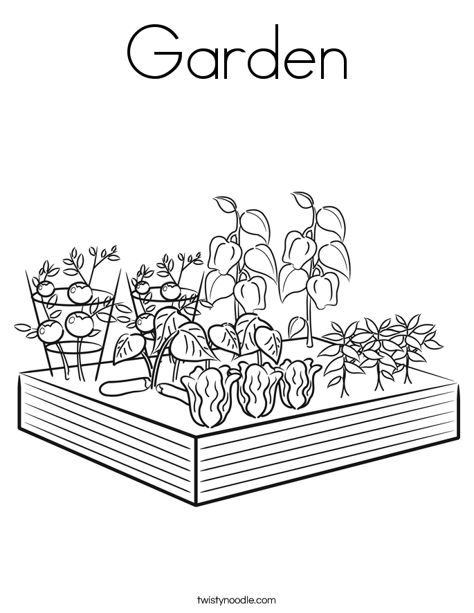 685x886 Garden Coloring Page