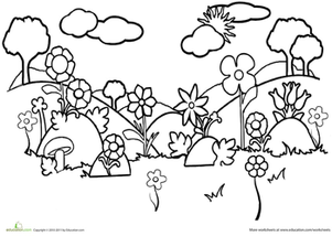 301x214 Garden Coloring Pages Printables