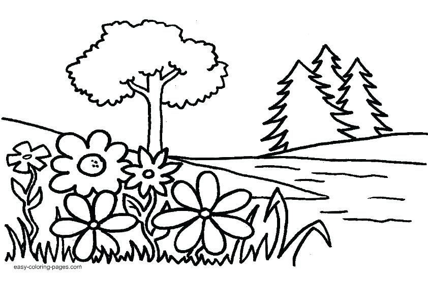 842x598 Gardening Coloring Pages Free Printable Kids Coloring Garden
