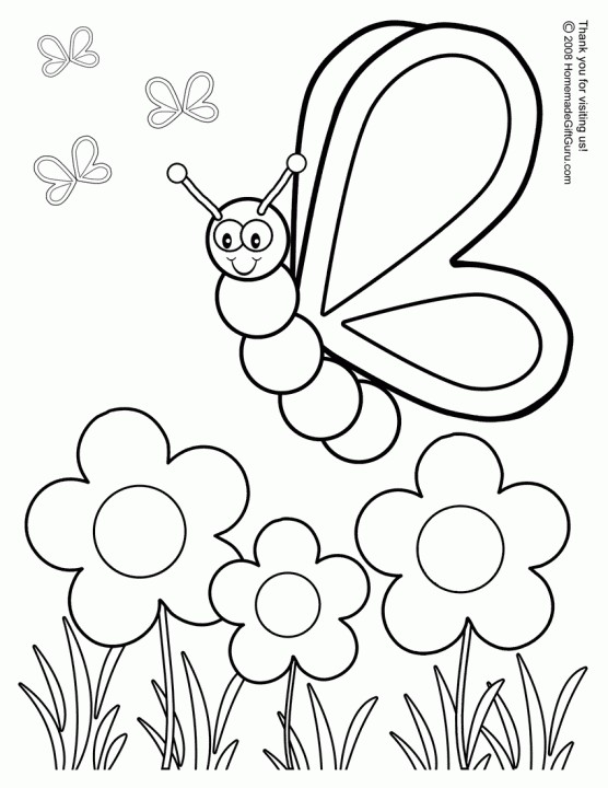 556x720 Printable Spring Coloring Pages Insectosartmath