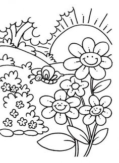 236x324 Spring Time Coloring Pages Download Free Spring Time Coloring