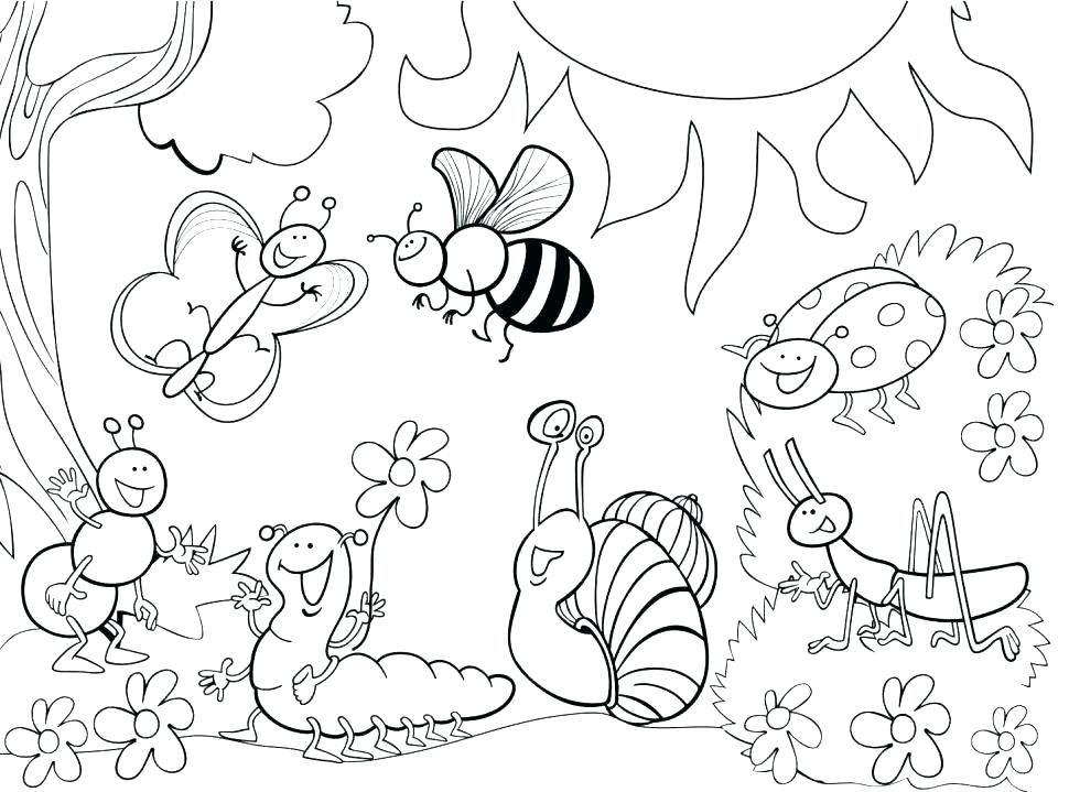 970x719 Garden Coloring Pages
