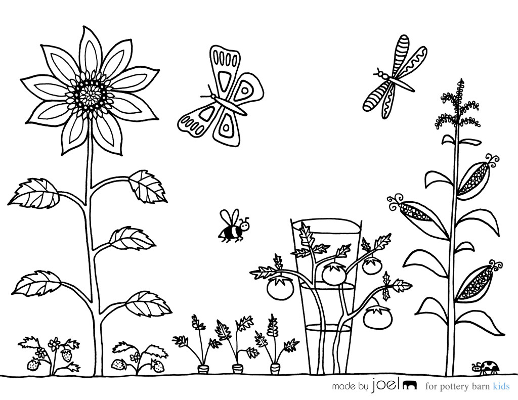1024x791 Captivating Garden Coloring Pages For Adults Preschool To Print