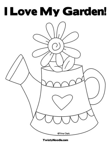 468x605 Coloring Pages Watering Can This Will Print Full Screen