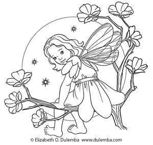 Garden Fairy Coloring Pages