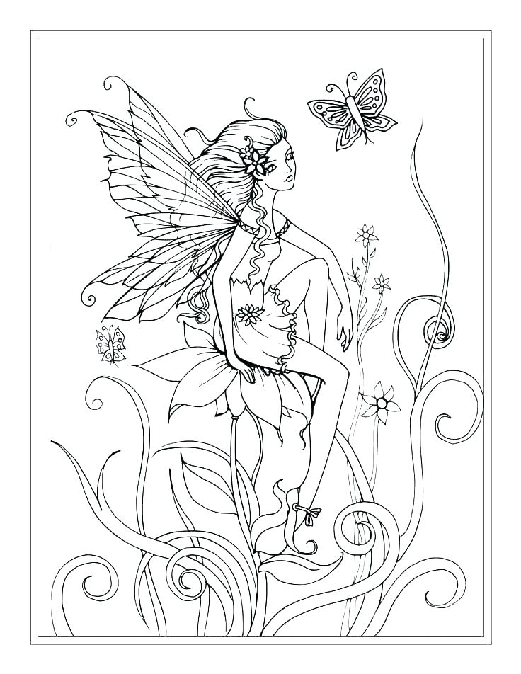736x952 Fairy Coloring In Fairy Coloring Book Online