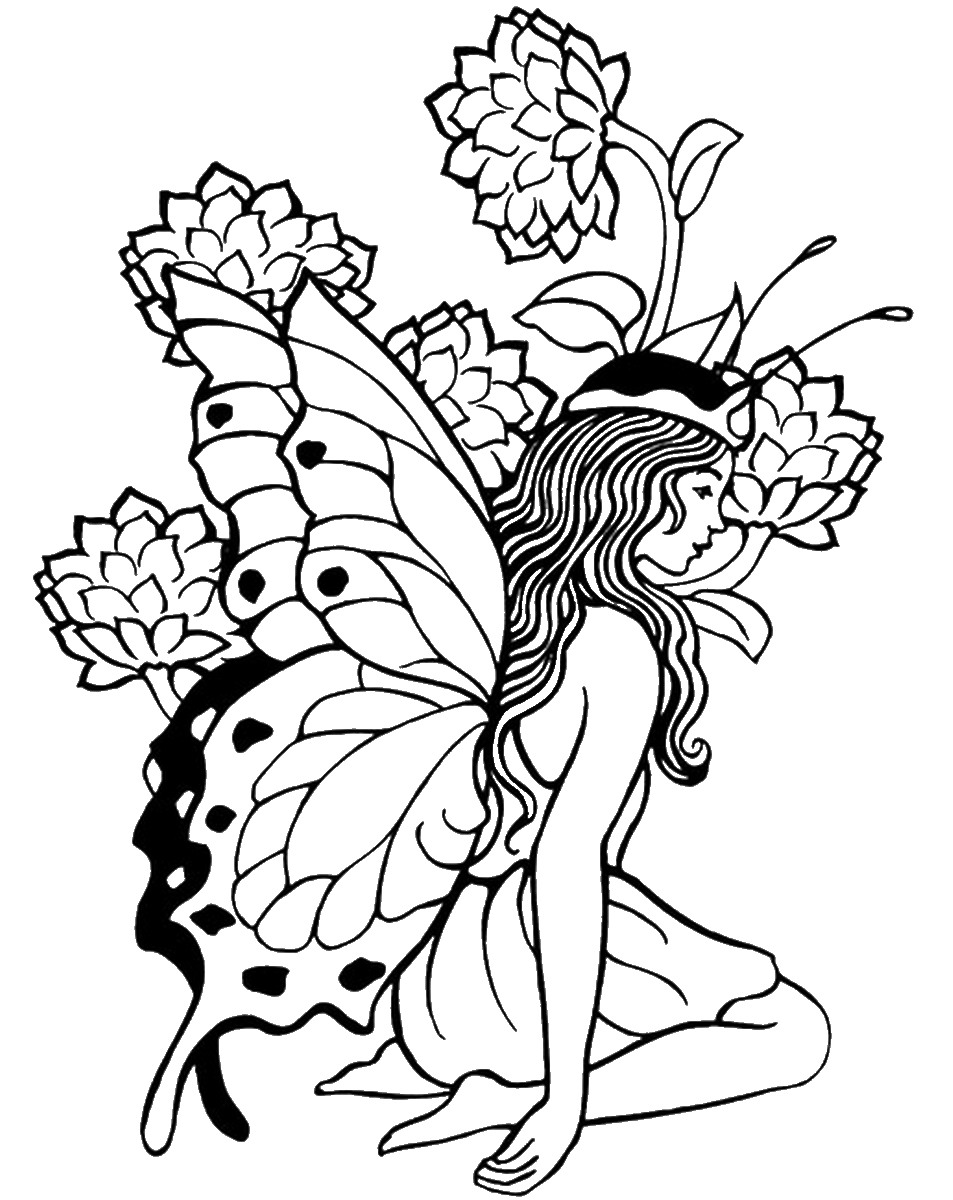 953x1200 Fairy Coloring Pages