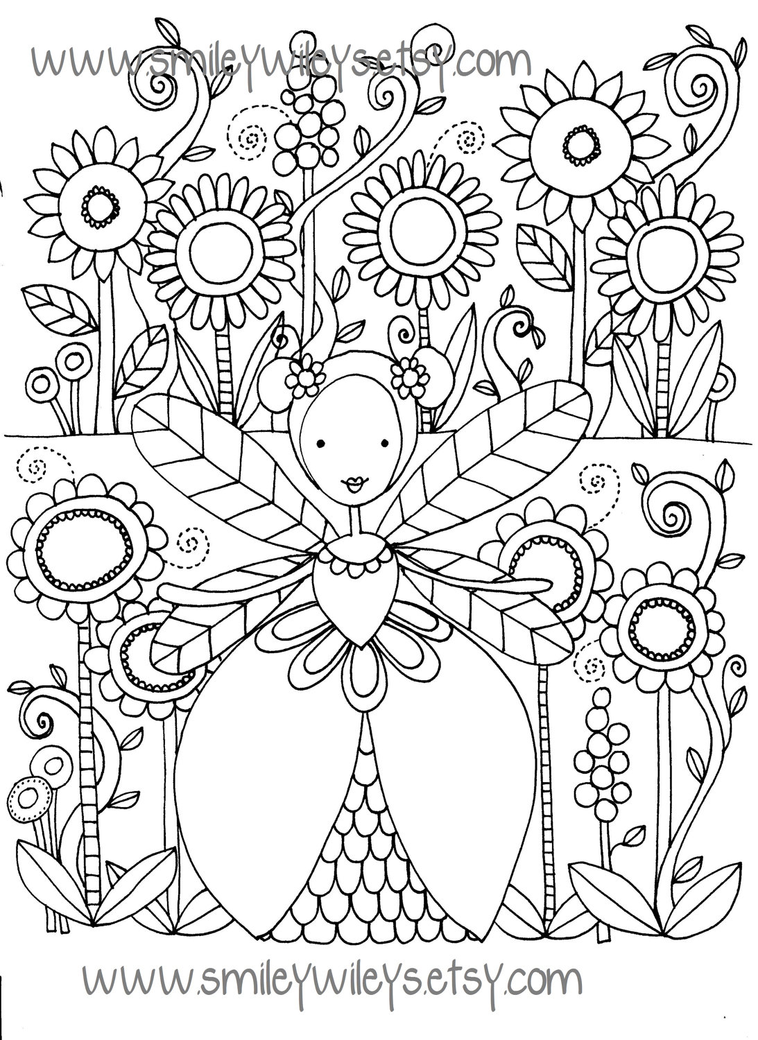 1093x1500 Fairy Colouring Pages