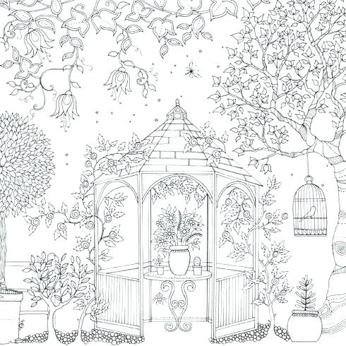 490x490 Garden Coloring Page Coloring Pages Garden Garden Coloring Pages